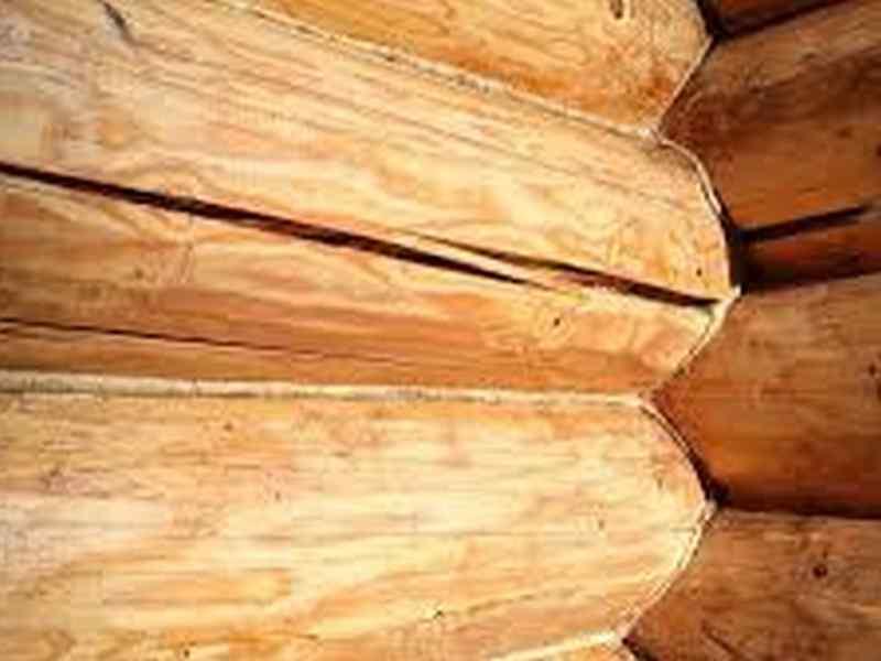 Заделка трещин с срубах домов